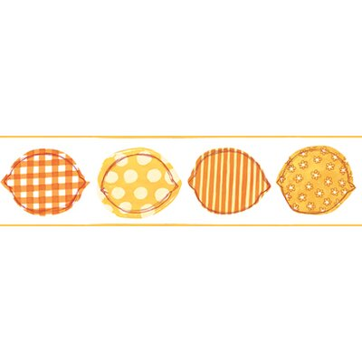 York Wallcoverings Bistro 750 Printed Lemons Prepasted Wallpaper Border - Color: Orange / Yellow / White at Sears.com