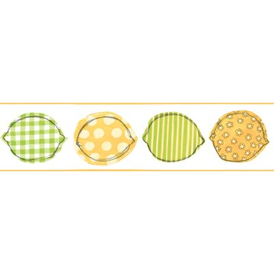 York Wallcoverings Bistro 750 Printed Lemons Prepasted Wallpaper Border - Color: Yellow / Lime / White at Sears.com