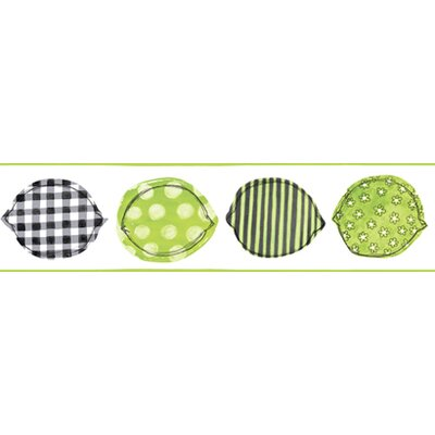 York Wallcoverings Bistro 750 Printed Lemons Prepasted Wallpaper Border - Color: Black / Lime / White at Sears.com