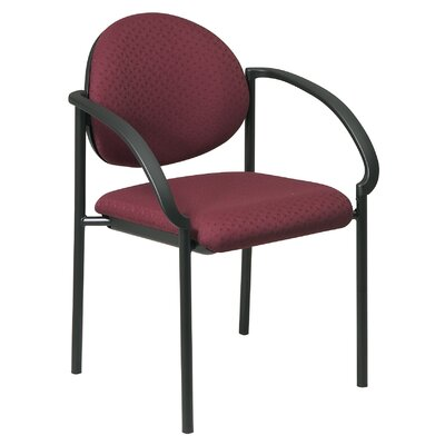 Guest Chair Seat Finish: Icon - Burgundy