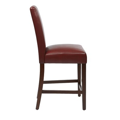 24 Bar Stool Upholstery: Crimson Red