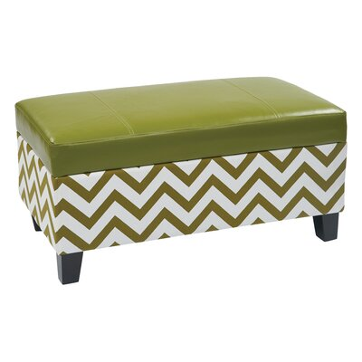 Office Star Ave Six Hudson Storage Ottoman - Color: Green at Sears.com