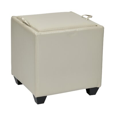 OSP Designs Storage Ottoman Upholstery: Cream