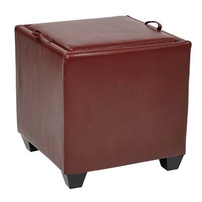 OSP Designs Storage Ottoman Upholstery: Crimson Red