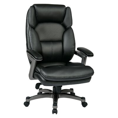 Work Smart Executive Chair Upholstery Color: Black / Titanium