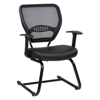 Space Seating 18.5 Professional AirGrid Back Visitors Chair with Eco Leather Seat