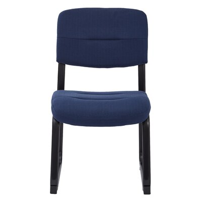 Fabric Visitors Chair with Sled Base Color: Indigo
