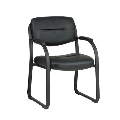 Faux Leather Low-Back Guest Chair