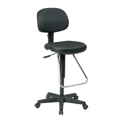 Office Star Height Adjustable Drafting Chair with Footrest - Fabric: Festival - Sangria at Sears.com