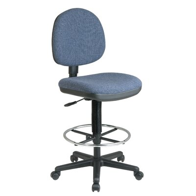 Height Adjustable Drafting Chair with Lumbar Support Upholstery: Transport - Tuxedo