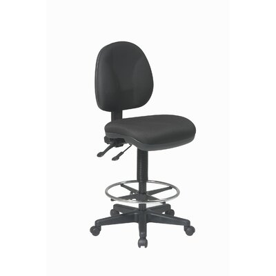 Height Adjustable Drafting Chair with Footring Upholstery: Icon - Black
