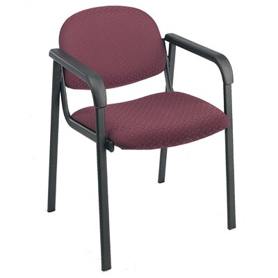Office Star Visitors Chair with Shell Back and Legs - Fabric: Festival - Sangria, Arms: Included at Sears.com