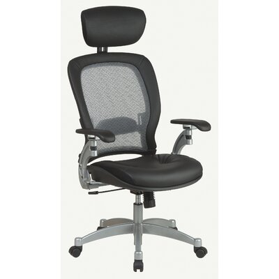 Office Star SPACE Air Grid Executive Leather Office Chair with Arms - Headrest: Included at Sears.com