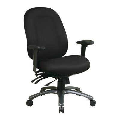 High Back Office Chair with Seat Slider Upholstery Transport Tuxedo