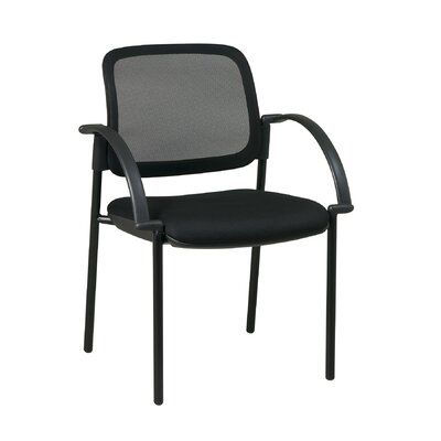 Screen Mesh Guest Chair Seat Material: Faux Leather