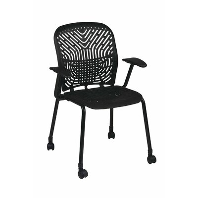Space Seating Deluxe SpaceFlex Raven Guest Chair Arm Options: Included, Finish: Platinum, Casters/Glides: Included