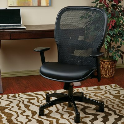 SPACE High-Back Mesh Desk Chair Upholstery: Eco Leather