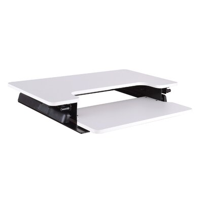 Sharniece 16.75 H x 35.5W Standing Desk Conversion Unit Finish: White
