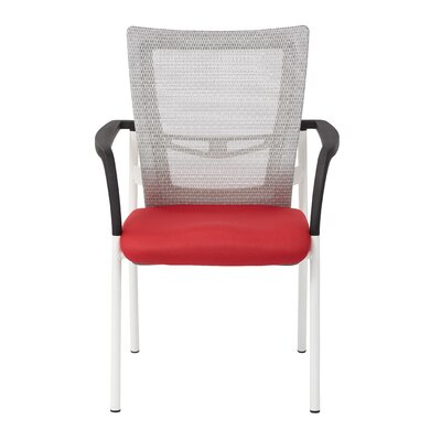 Pierro Fabric Guest Chair Seat Color: Red