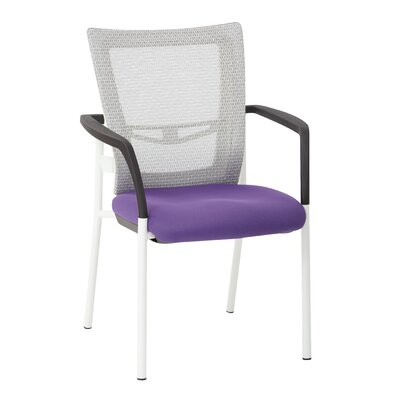 Pierro Fabric Guest Chair Seat Color: Purple