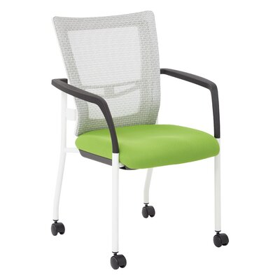 Pierro Fabric Guest Chair Seat Color: Green