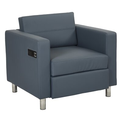 Procter Lounge Chair Seat Color: Blue