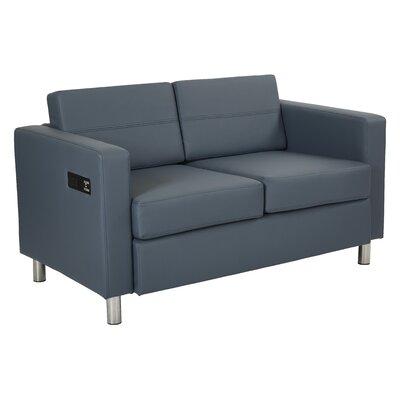 Procter Loveseat Upholstery: Blue