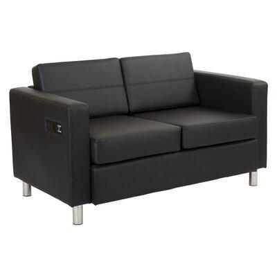 Procter Loveseat Upholstery: Black