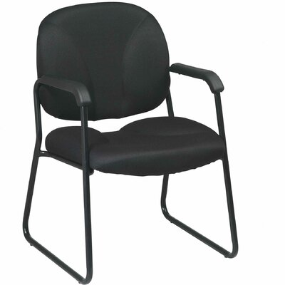 Work Smart Guest Chair Fabric: Black