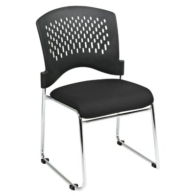 Plastic Back SpringFlex Fabric Seat Visitors Office Chair with Chrome Frame Sled Base, Gangable and Product Photo 1384