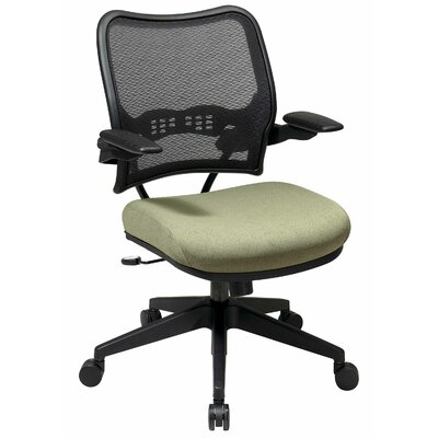 Office Star AirGrid Back Space Seating Deluxe Office Chair - Fabric: Mime - Pewter at Sears.com