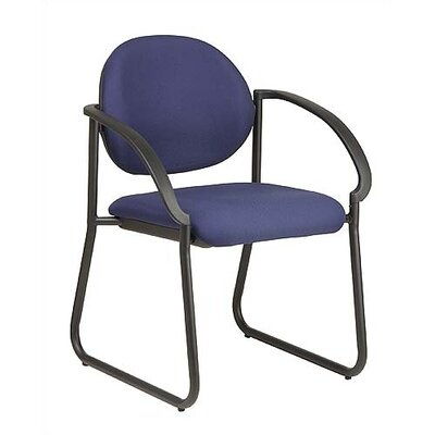Work Smart Sled Base Guest Chair Fabric: Icon - Navy