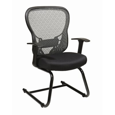 Deluxe R2 SpaceGrid� Visitors Chair with Fixed Arms