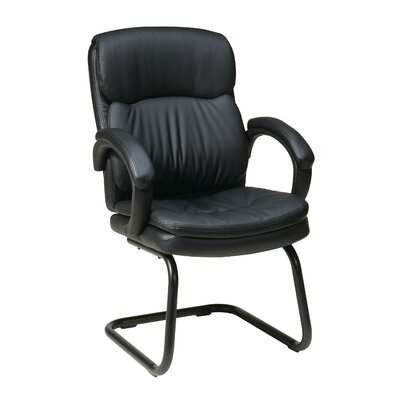 Eco Leather Back Guest Chair with Padded Arms