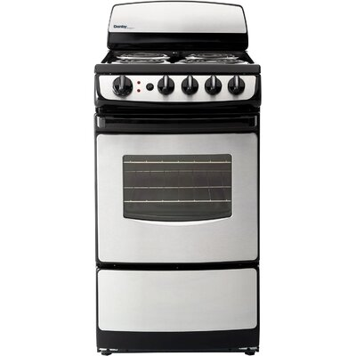 20' Free-standing Electric Range Finish: Black / Stainless Steel DER201BSS