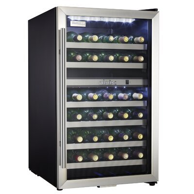 Danby 35 Bottle Wine Cooler in Black with Stainless Steel Door Trim at Sears.com