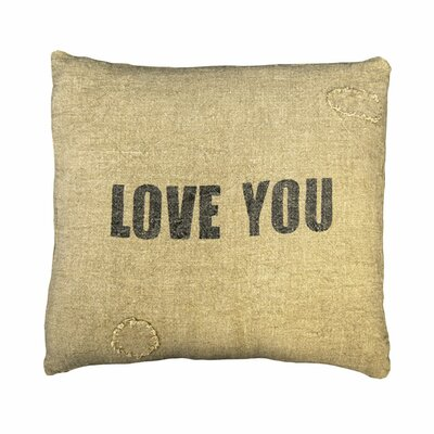 Love You Linen Throw Pillow