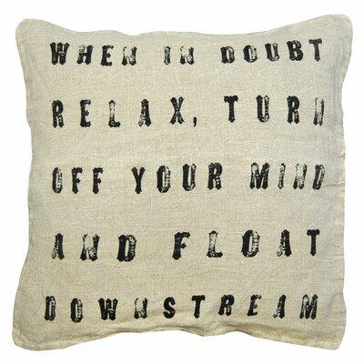 When in Doubt Linen Throw Pillow