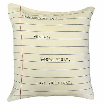 Thinking of You Linen Throw Pillow