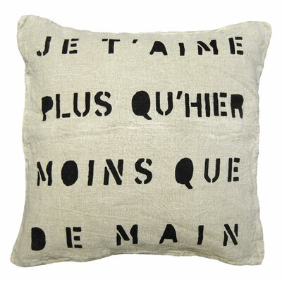 Je TAime Linen Throw Pillow