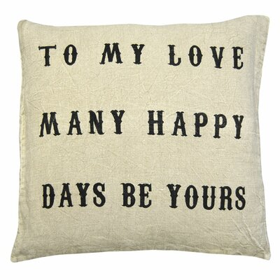 Love To My Love Linen Throw Pillow