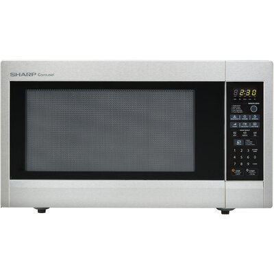 Sharp Carousel 2.2 Cu. Ft. 1200W Countertop Microwave Oven - Stainless Steel at Sears.com
