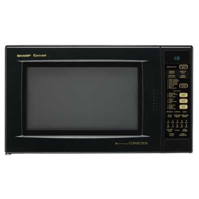 1.5 Cu. Ft. 900W Countertop Microwave with Convection Color: Black