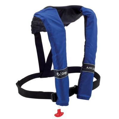 A/M 24 Automatic / Manual Inflatable Life Jacket PFD in Blue