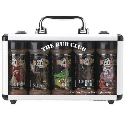 Fat Boys Rub Club Grilling Spice Rubs (Pack of 5)