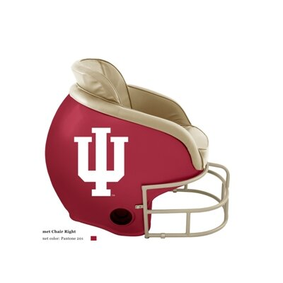 NCAA Licensed Football Helmet Chair Color: Indiana University