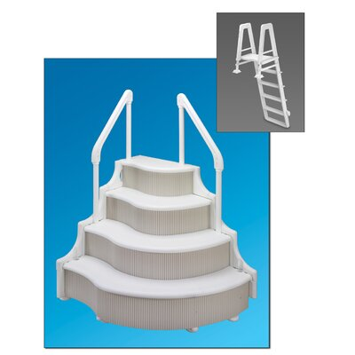 Heavy Duty Above Ground Pool Ladder With 400 Lbs Weight