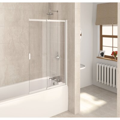 Aqualux 2 Panel Slider Bath Shower Screen