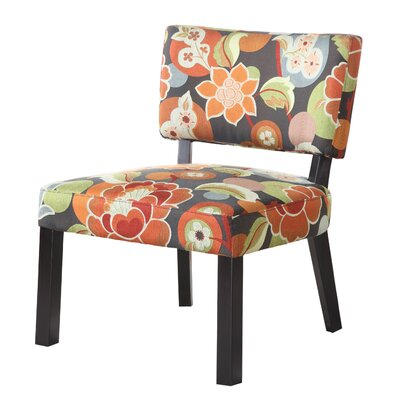 POWELL Bright Floral Print Fabric Slipper Chair at Sears.com