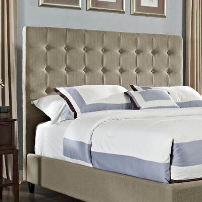 Soft Roll Queen Upholstered Panel Headboard Upholstery: Tan